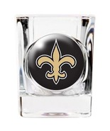 NEW ORLEANS SAINTS 2 OZ DOMED LOGO SQUARE SHOT GLASS  NFL FOOTBALL - $10.36