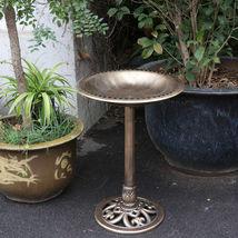 """28"""" Height Birdbath Pedestal Bird Bath Outdoor Garden Decor Vintage Yard... - $35.54"""