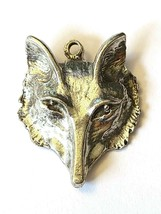 Wolf Fine Pewter Pendant /  Charms  - Approx. 1 1/8 Inches Tall  (T187) image 1