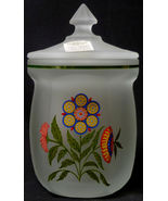 1980s Westmoreland Glass Crystal Mist Country Floral Covered Marmalade J... - $34.79