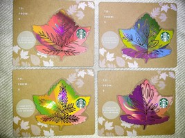 Starbucks Autumn Leaves Collection-4 Gift Cards-Brand New, Never Swiped - $4.99