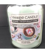 Yankee Candle Merry Mint Chocolate Large Jar Candle 19 oz Rare Scent  - $39.59