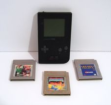 Vintage Nintendo Game Boy Pocket Black Handheld System MGB-001 with Games! - $44.95