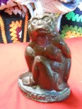 Outstanding ANTIQUE Brass/Bronze Statue MONKEY / CHIMPANZEE................ - $64.35