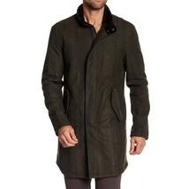 John Varvatos Collection Men's Mock Collar Wool Long Coat Jacket Moss Green 54 - $467.12