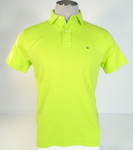 Tommy Hilfiger Lime Green Short Sleeve Soft Cotton Polo Shirt Men's NWT - $52.49