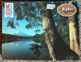 1978 Mt Hood Lost Lake Oregon 1000 Piece MB Big Ben Jigsaw Puzzle Complete - $7.50