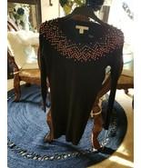 Kaisley Womens XS Sweater Dress Fitted Black Midi Stretch - $11.88