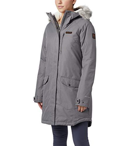 Columbia Women's Suttle Mountain Long Insulated Jacket, City Grey, 2X Plus - $220.49