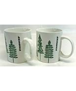 Starbucks Coffee Holiday 2015 Christmas Tree Cup Mug 12 oz, Set of 2 - $14.84