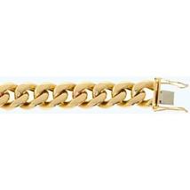 "Fine 10K Yellow Gold Miami Cuban Chain 16 mm Bracelet Size 7""-9"" - $2,962.08+"