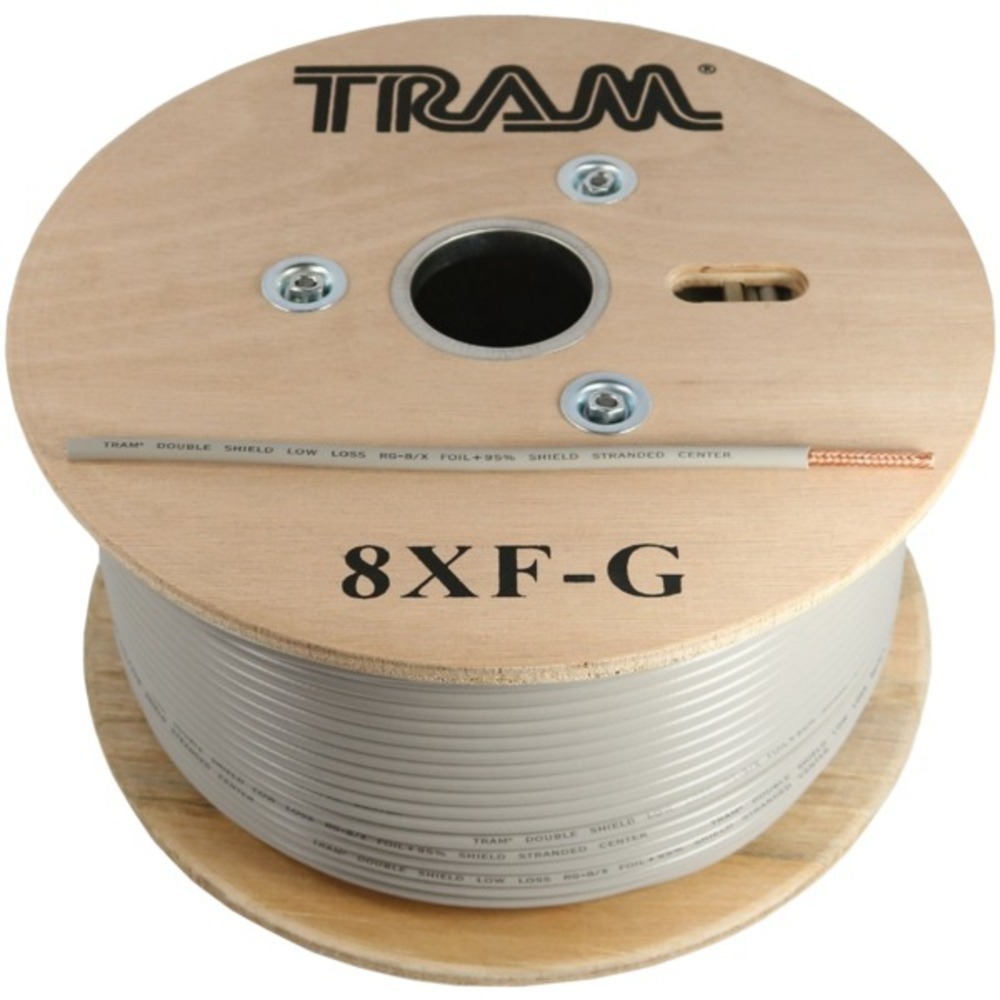 Primary image for Tram 8XF-G RG8X 500ft Roll Tramflex Double Shield Coaxial Cable with Gray Jacket