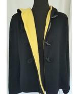 Deborah C Black Yellow Cashmere Cardigan Sweater Made in Italy Size M/L ... - $170.78