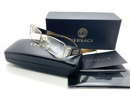 7 Versace MOD 1163-B 1221 Rectangle Gold Brown Eyeglasses Frame 52*16*130 - $116.37