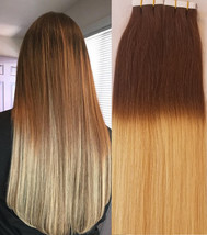 """Hair Faux You 18"""" Ombre Balayage Tape in Hair Extensions Remy Human Hair Glue in - $64.99"""