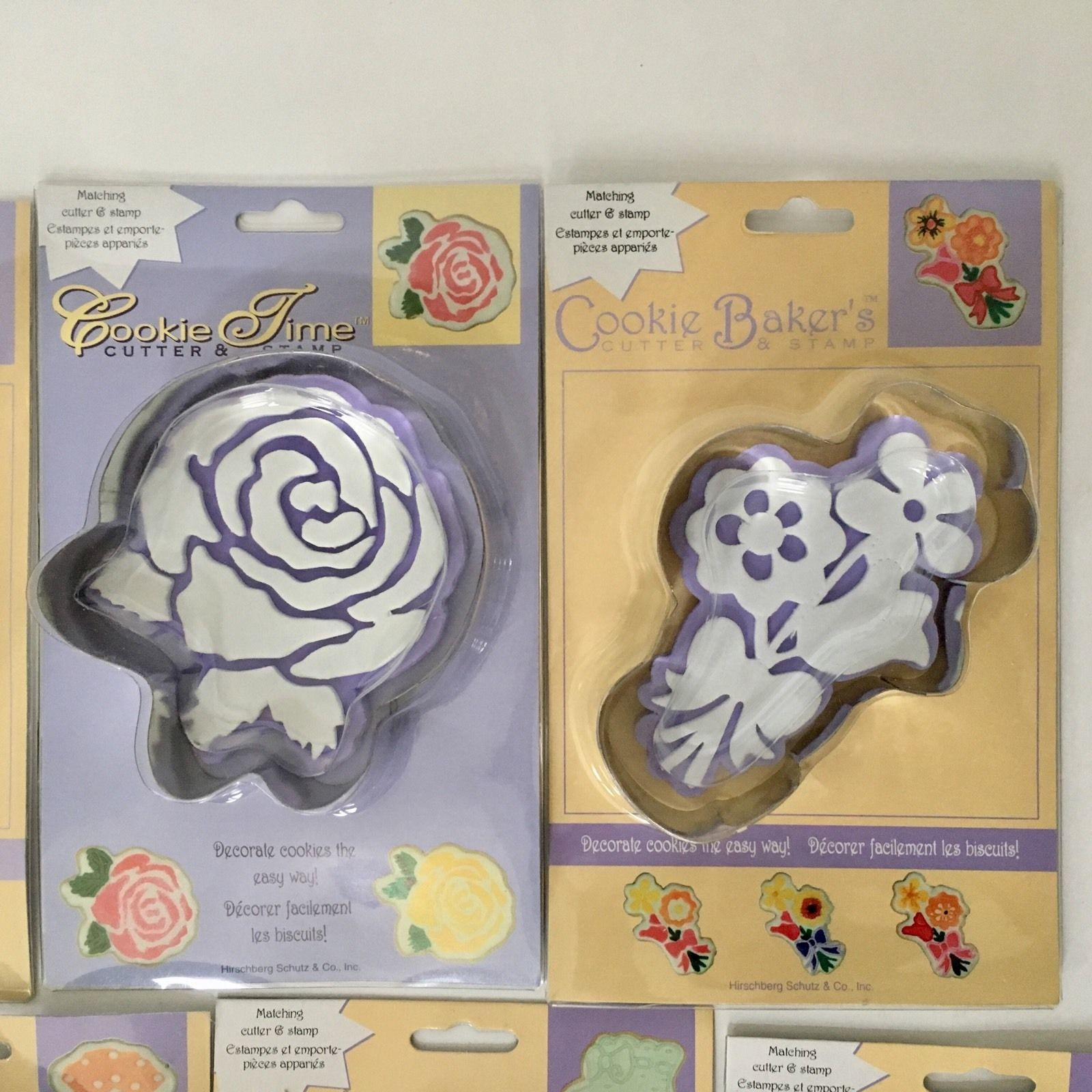 Cookie Baker's Cutter & Stamp 7 Cutters Moon Flower Fish Stocking Gift Clown NIP