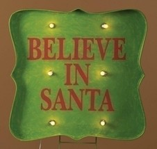 "Roman 31"" Lighted ""Believe in Santa"" Christmas sign Outdoor Decoration - €82,48 EUR"
