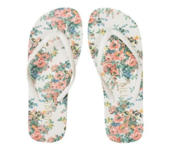 FLOPS GIRLS FLORAL WOMEN'S PRINT CREAM SANDALS FLIP W BILLABONG ROSE 22 NEW OzzF4q6d