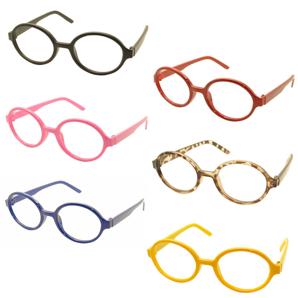 Primary image for Geek Nerd Style Oval Round Shape Style Glasses Frames NO LENS Wizard Costume