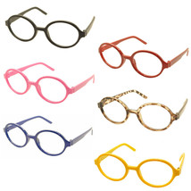 Geek Nerd Style Oval Round Shape Style Glasses Frames NO LENS Wizard Costume image 1