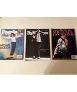MICHAEL JACKSON: 3 MAGAZINES, DEATH OF NEWSPAPER AND 8X11 PIC - FREE SHI... - $46.75
