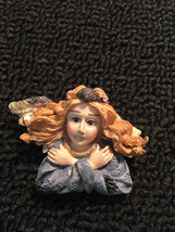 Lovely Vintage Resin Angel Lady Brooch Pin Jewelry vtg - $4.64