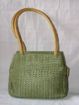 Charter Club Classics Sage Green Straw Purse - $9.99