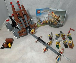 LEGO 7020 Vikings Army with Heavy Artillery Wagon Complete w/ Minifigs R... - $93.49