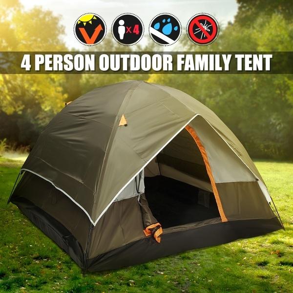 Camping Hiking Tent Sleeps 4 All Season Waterproof