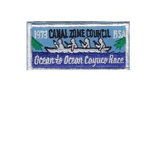 Boy Scouts of America BSA Canal Zone Cayuco Race 1973 CZ Council Panama 1.5 x 3. - $9.99