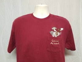 Vintage Wile E Coyote Genius at Work Adult Small Burgundy TShirt - $24.75