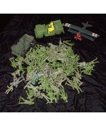 Green Army Men Play Set Toy Soldier Figures & Vehicles Vintage Marx MPC ... - £50.43 GBP