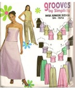 Simplicity Sewing Pattern 9775 Juniors Evening Party Long Skirt Sexy Top... - £3.14 GBP