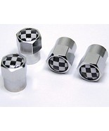 Tire Valve Caps - Checkered - Set Of 4 - $14.65
