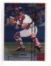 1999 Topps Finest #2 Javy Lopez Atlanta Braves Collectible Baseball Card - $0.99