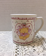 Vintage RUSS BERRIES & CO. Bear With Hearts Coffee Cup Love Valentine Mug - $9.00