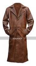 Batman V Superman Coat Dawn of Justice Nightmare Brown Leather Trench Coat image 1