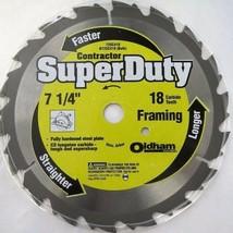 """Oldham 725C418 7-1/4"""" X 18 Tooth Framing Saw Blade Bulk - $2.97"""