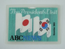 Ronald Reagan Vintage Press Pass The President's Visit 1983 Japan South ... - $98.95