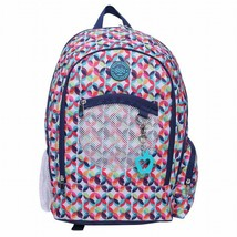 "NEW Double Dutch Club 18"" Kaleidoscope Backpack w/ Padded Straps & Laptop Pocket image 1"