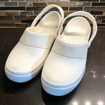 Crocs white rubber sandal clogs - $34.65