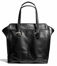 Coach TAYLOR North/South Leather Tote Shopper Handbag Bag Tote F25941 Bl... - $180.49