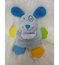Fisher Price Puppy Dog Lovey & Baby Teether I Love You Plush Blue Toy B176 - $14.99