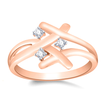 Three-Stone White CZ Diamond 14k Rose Gold Plated Halo Ring For Women`s - $79.99
