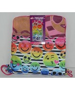 Three Cheers for Girls Brand 4754 Smiley Face Beach Towel Bag Set - $26.00