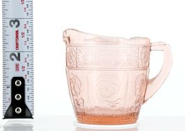 Pink Doric and Pansy Pretty Polly Party Child's Toy Depression Glass Creamer image 3