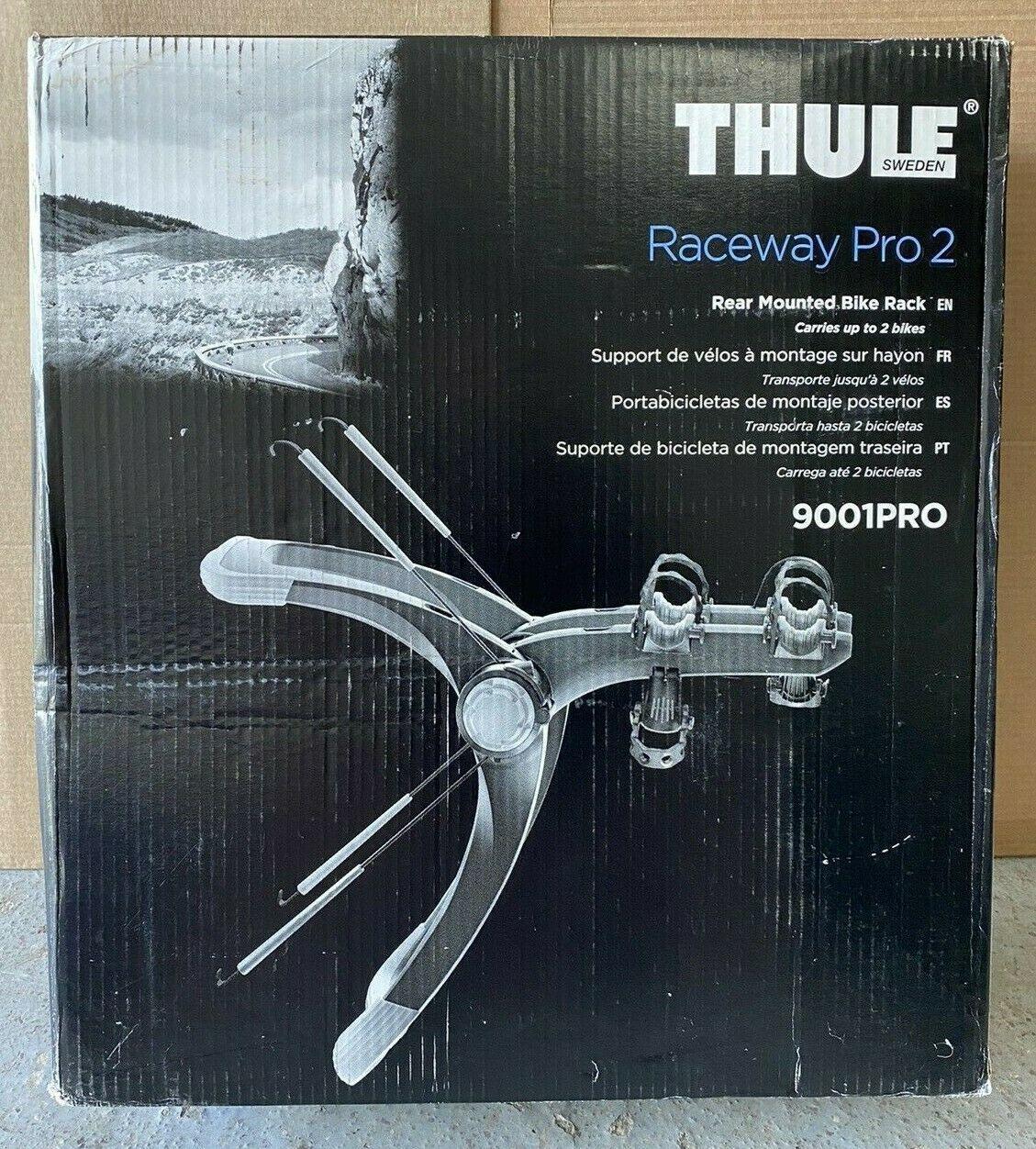 Thule Raceway PRO 2 Bike Trunk Mounted Carrier 9001PRO NEW in BOX