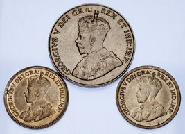 Canada Lot of 3 5C Coins (1917 - 1933) VF - XF Condition - $34.64
