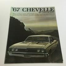 1967 Chevelle 300 by Chevrolet 4-Door Sedan 195-HP Turbo-Fire V8 Car Brochure - $35.63