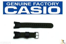 CASIO 10304188 Original Green / Black Nylon-Leather Watch Band SGW-100B-3V - $35.95